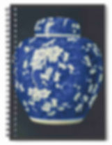 BLUE AND WHITE PORCELAIN POT EARTHEN JAR CHINA CERAMICS SPIRAL NOTEBOOK