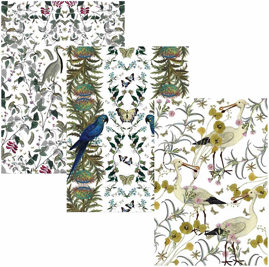 BIRDS IN THE WILD TEA TOWELS