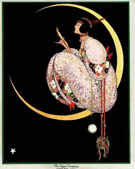 Vogue, November 1917 Woman on the Moon - George Wolfe Plank