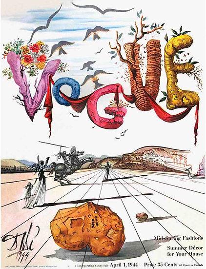 Vogue April 1944 - Salvador Dali