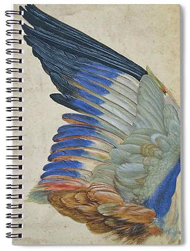 WING OF A BLUE ROLLER notebok