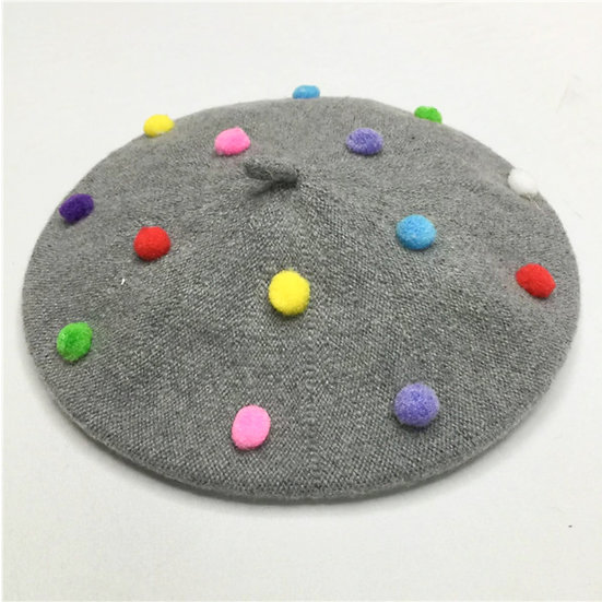 KIDS DOTTED BERET
