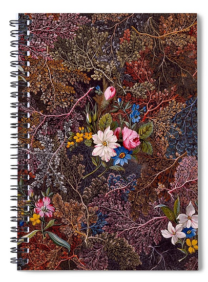 ANTIQUE FLORAL NOTEBOOK