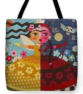 FRIDA KAHLO ANGEL DEVIL QUEEN   TOTE BAG