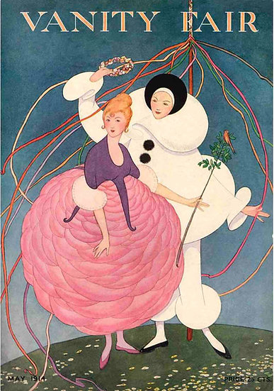 Pierrot and a Girl in a Pink Skirt
