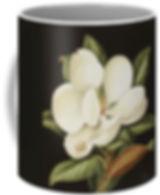 MAGNOLIA ON DARKGROUND mug