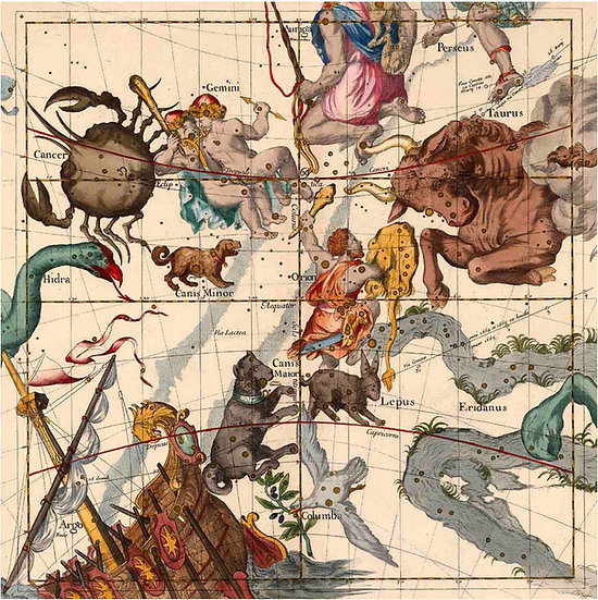 Constellation Chart 1693c