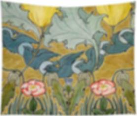 Birds in flight tapestry