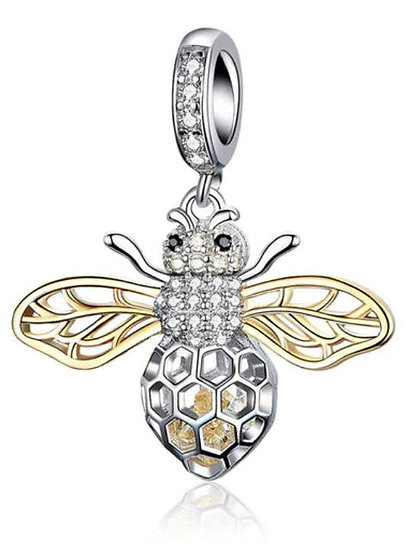 STERLING SILVER BEE PENDANT 3