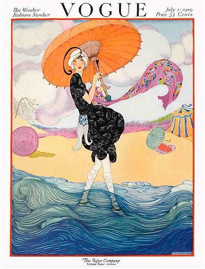 Vogue July 1919 A Woman on the Beach - Helen Dryden