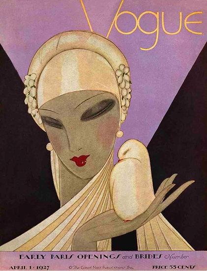 Vogue cover 1927 Woman in gold - Eduardo Garcia Benito