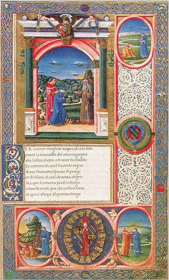 Dante Illuminated frontispiece 15th century