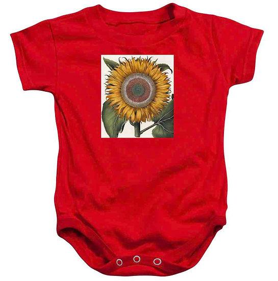 SUNFLOWER PRINT BABY ONESIE