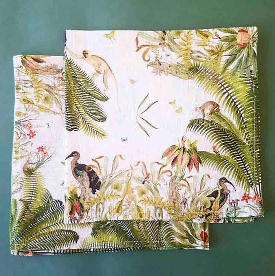 FERN FOREST NAPKINS SET OF 4