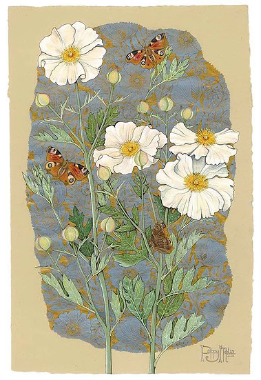 TREE POPPIES AND BUTTERFLIES