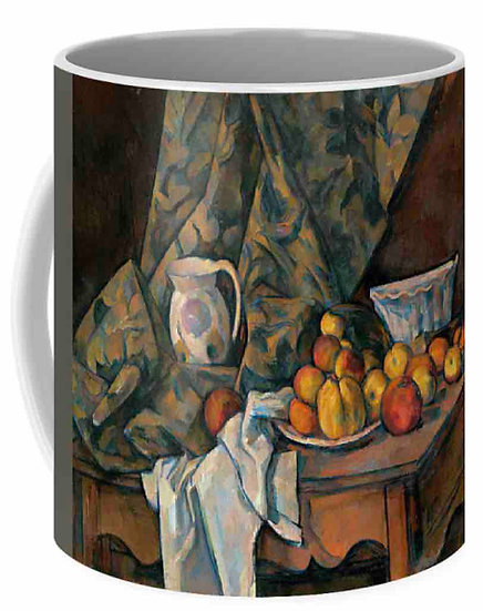 STILL LIFE WITH APPLES AND PEACHES MUG