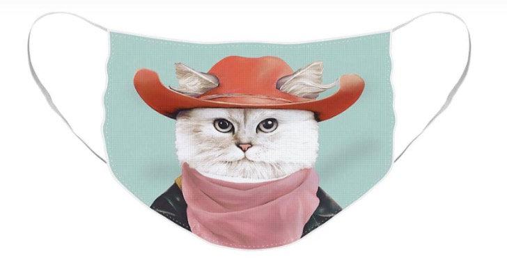 COWBOY CAT FACE MASK