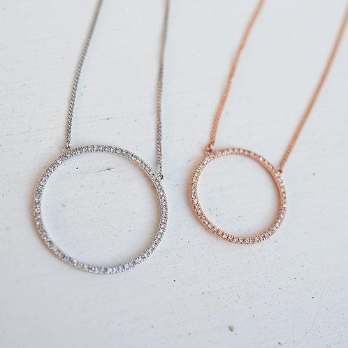 Halskette Brillantkreis