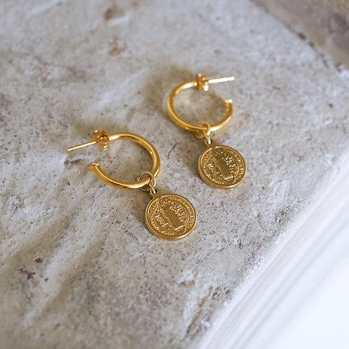 Creolen mit Münze