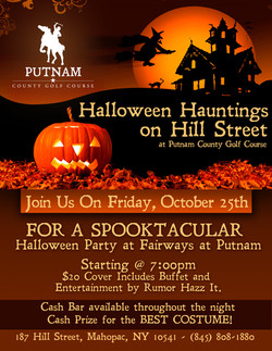 Golf Course Events - Halloween Flyer