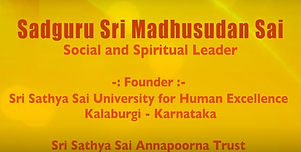 Sadguru Sri Madhusudan Sai talks about t