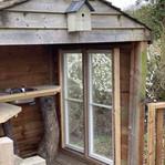 Tilda Rice woodland retreat kitchenette.