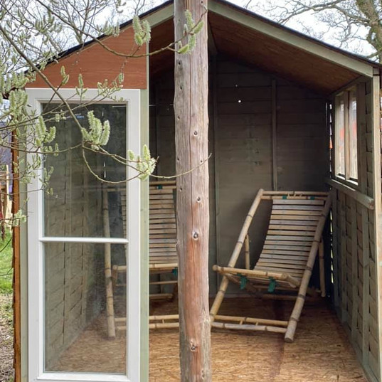 Tilda Rice outdoor wood hut...