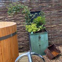 Vilanelle hot tub planter