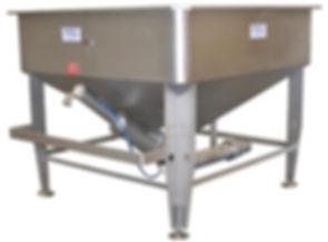FPEC Corp. Food Processing Equipment Rectangular Vacuum Feed Hopper