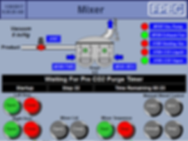 FPEC Corp. Food Processing Equipment Vacuum CO2 Mixer Automated Touch Screen Control Panel