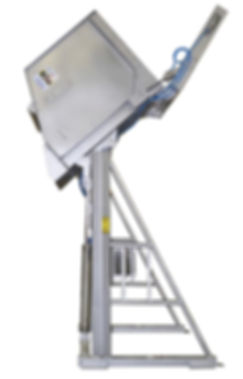 FPEC Corp. Food Processing Equipment HY-LIFT Dumper with Breakaway Bottom