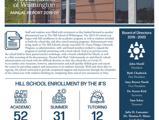 The Hill School of Wilmington      2019-20 Annual Report