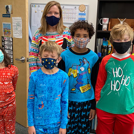 Pajama Day, Reaching Goals, and DECLAN! December fun at Hill.