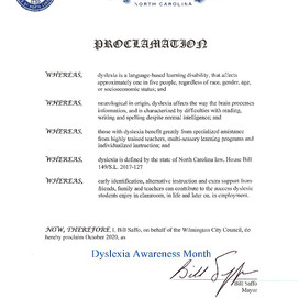 Mayor Saffo Again Proclaimed October as Dyslexia Awareness Month