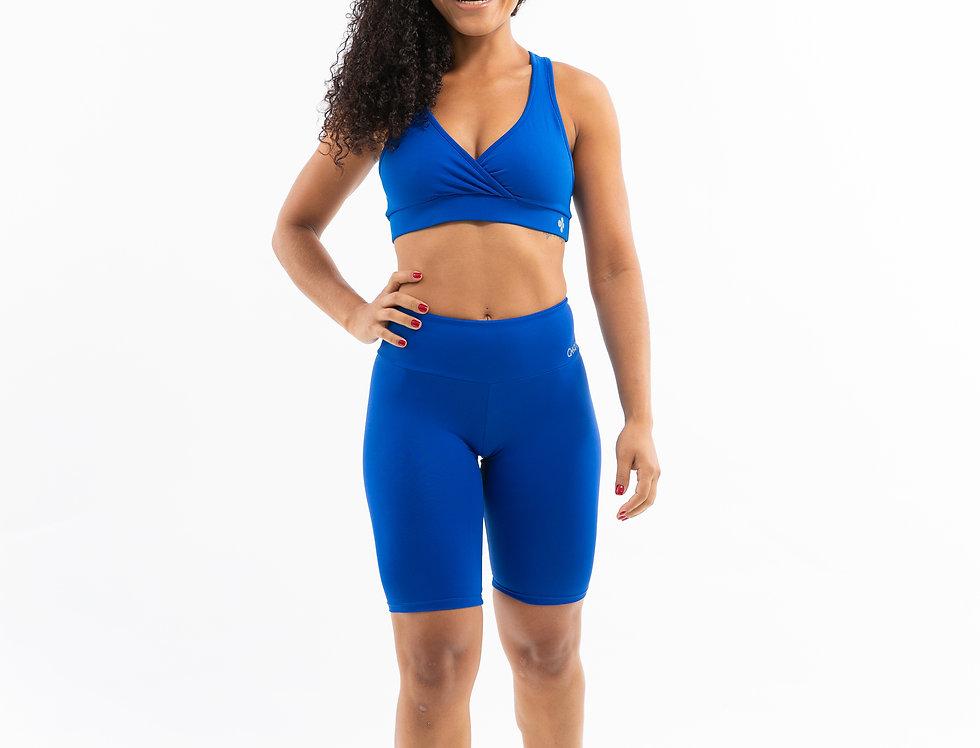 Bermuda Ciclista Básica Azul
