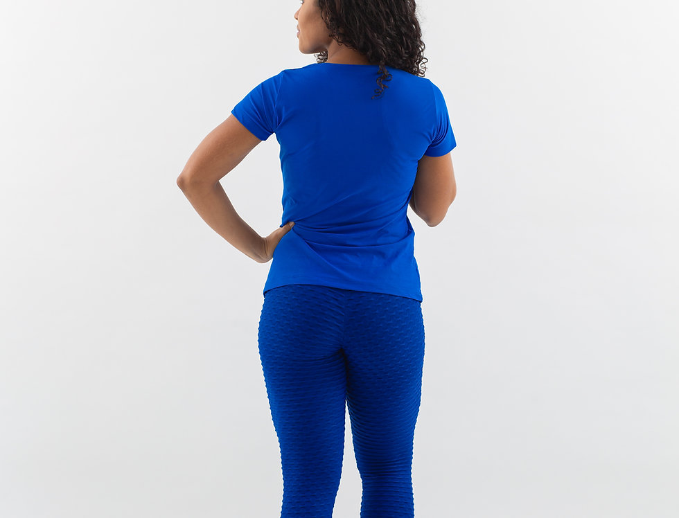 Blusa Decote Azul