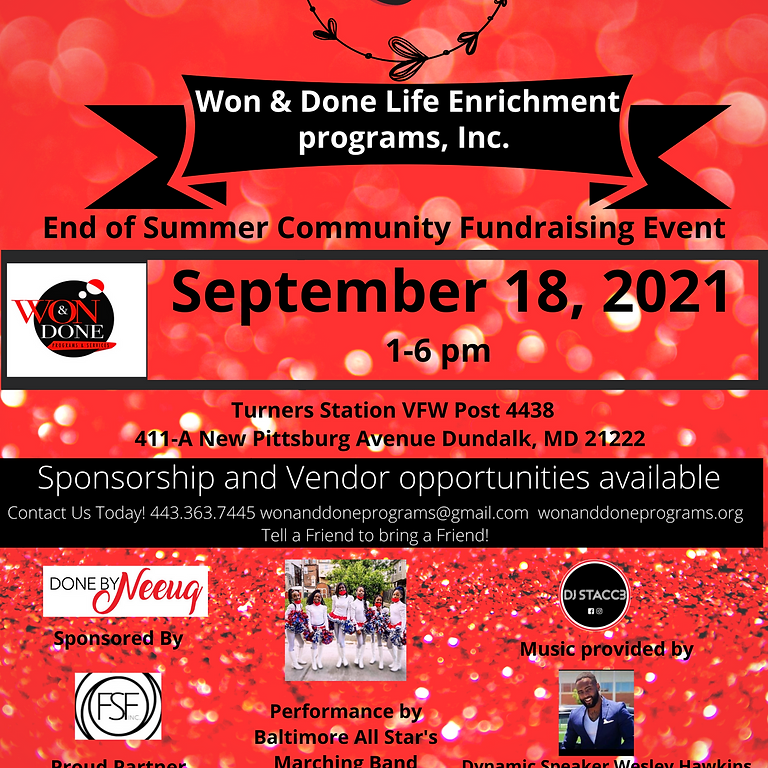 3rd Year Anniversary End of Summer Fundraiser