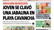 Joven se clavo Jabalina mientra paseaba en Cavancha