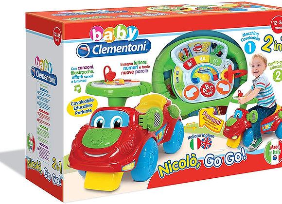 Clementoni Nicolò Go Go, Gioco 2 in 1 adatto per bambini da 1 - 3 anni