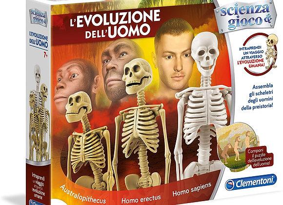 L'Evoluzione dell'uomo - 3 scheletri + puzzle - Clementoni