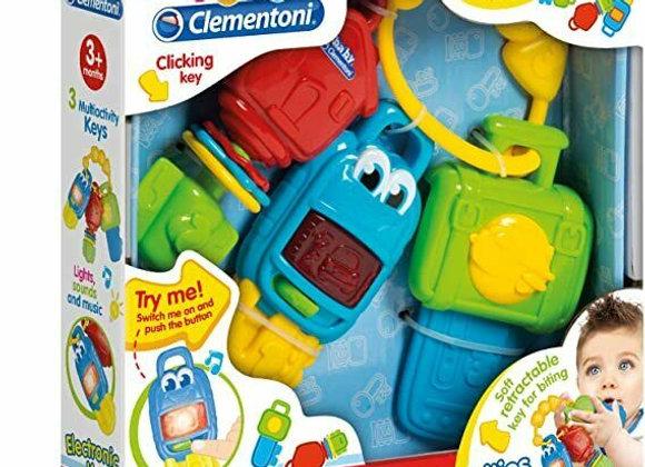 Baby clementoni electronic sound e light keys