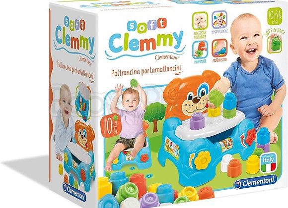 Clementoni - Baby Clemmy Poltroncina Porta Mattoncini