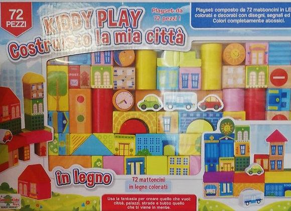 Costruzioni in legno Kiddy Play 72 pezzi