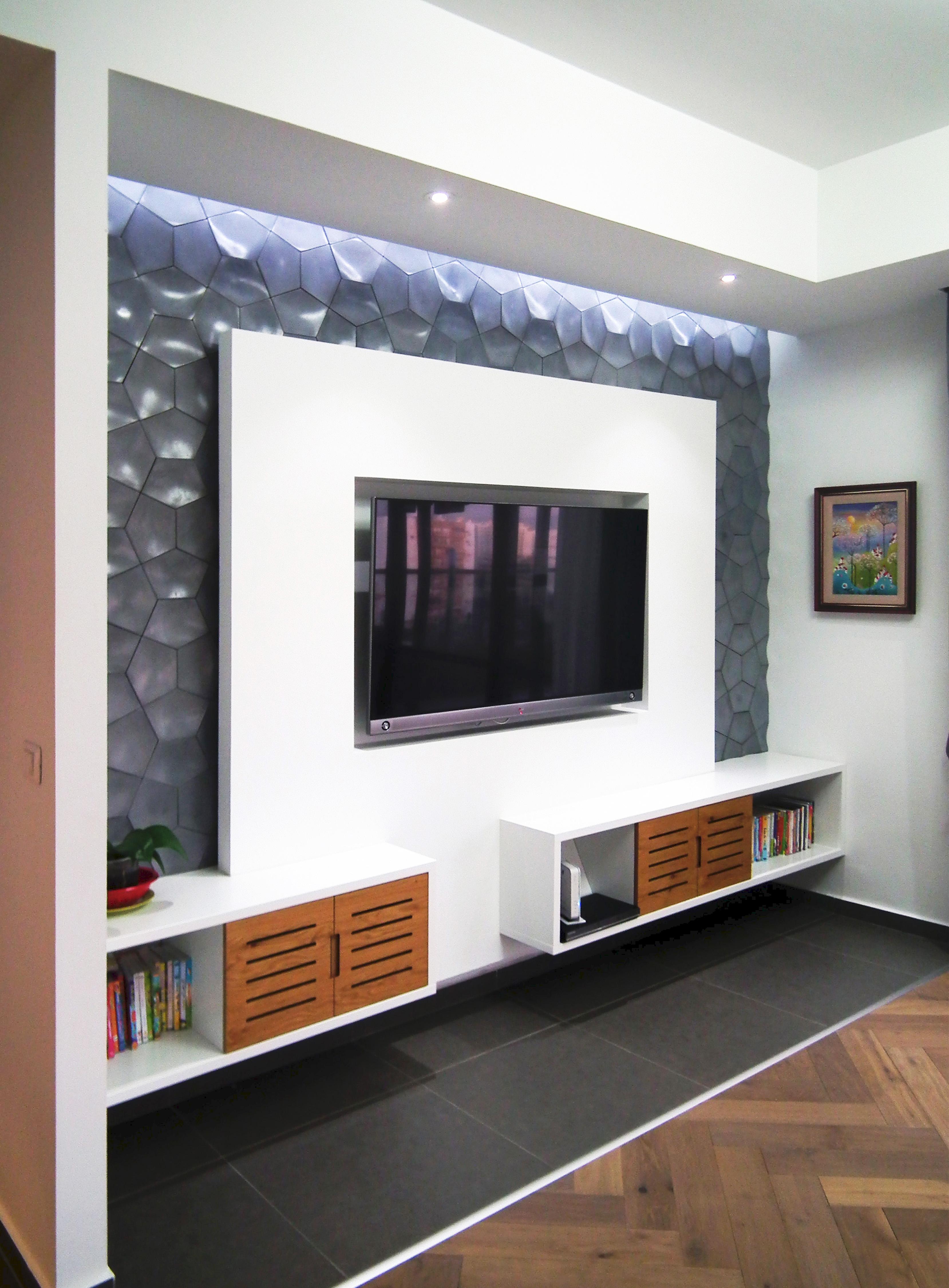 עיצוב בגבס לטלויזיה