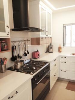 מבט נוסף למטבח כפרי עדין