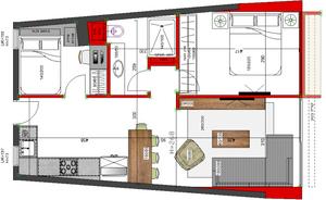 חלוקת כל חלל הדירה מחדש