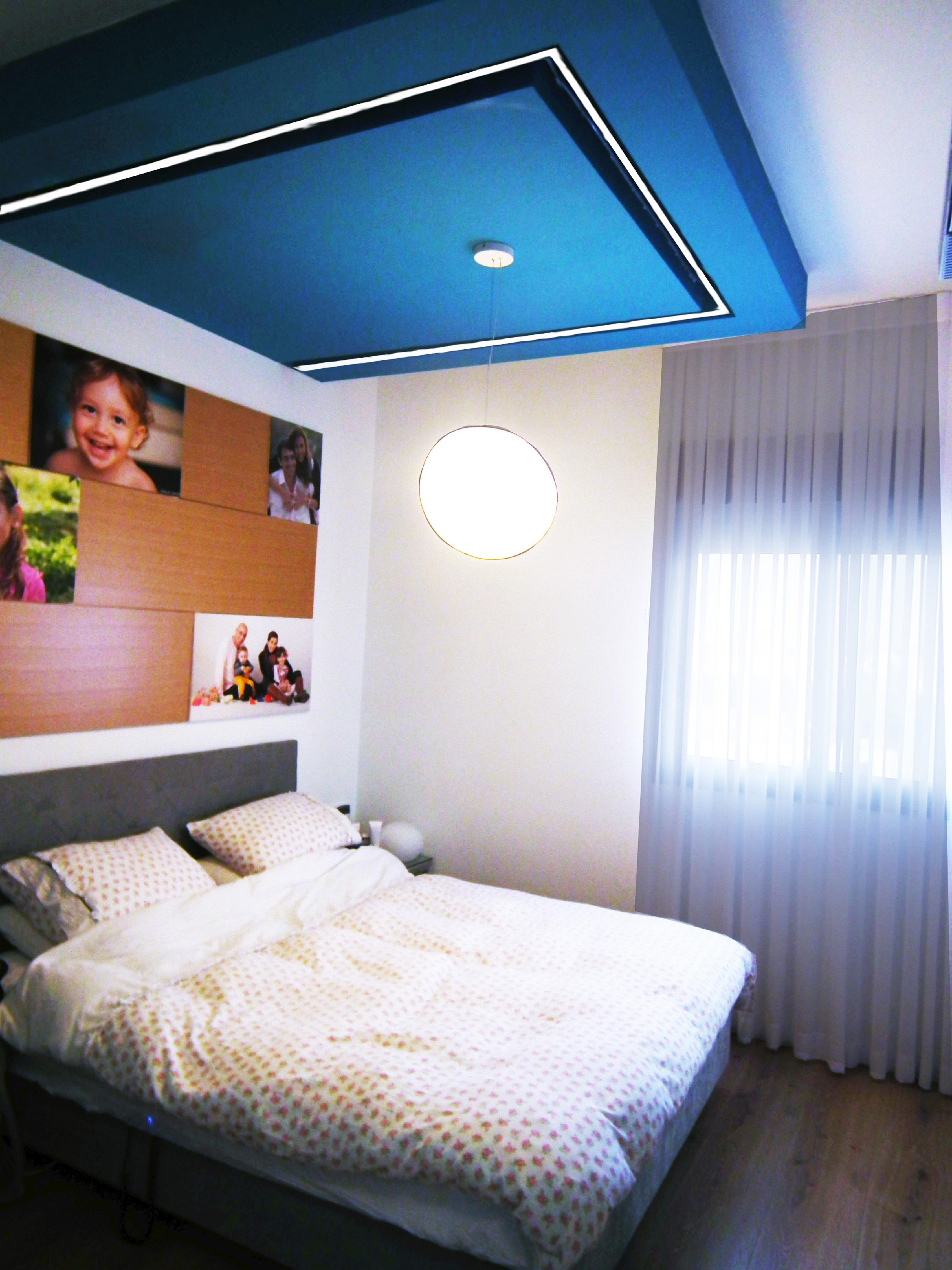 חדר הורים עם הנמכה צבעונית