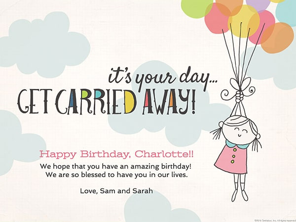 birthday card message