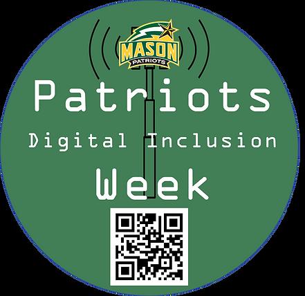 Patriots Digital Inclusion Week Sticker Design