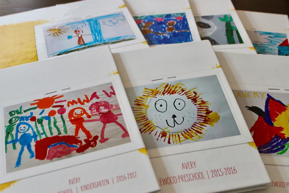 kids artwork, organizing, saving memories